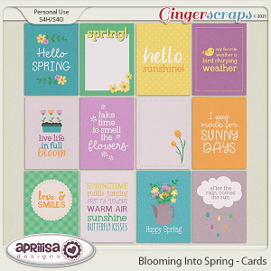 Blooming Into Spring - Cards by Aprilisa Designs