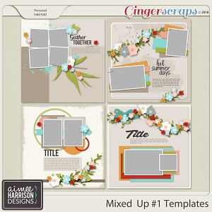 Mixed Up #1 Templates by Aimee Harrison