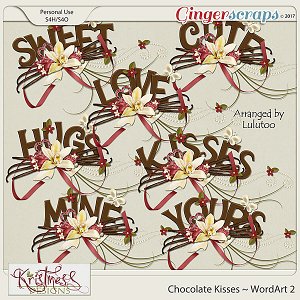 Chocolate Kisses WordArt Clusters 2