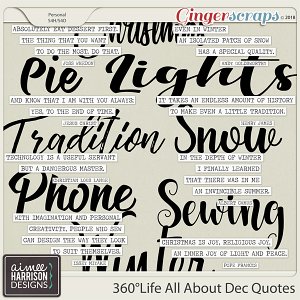 360°Life All About December Quotes by Aimee Harrison