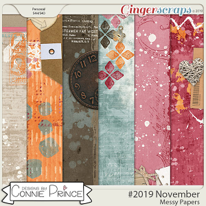 #2019 November - Messy Papers by Connie Prince