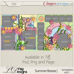 Summer Breeze: Templates Vol. 1 by LDragDesigns
