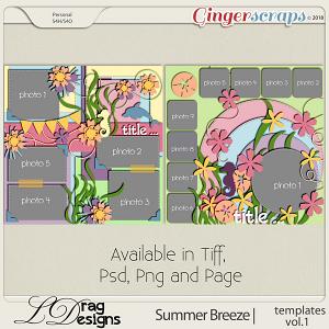 Summer Breeze: Templates Vol. 1 by LDragDesigns