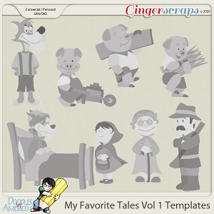 Doodles By Americo: My Favorite Tales Vol 1 Templates