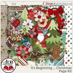 It's Beginning ... Christmas Page Kit by ADB Designs