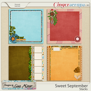 Sweet September Stacks from Designs by Lisa Minor