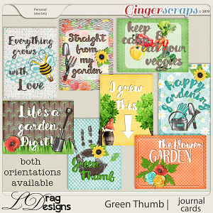 Green Thumb: Journal Cards by LDragDesigns