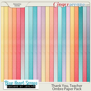 Thank You Teacher Ombre Papers