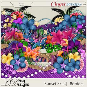 Sunset Skies: Borders by LDragDesigns