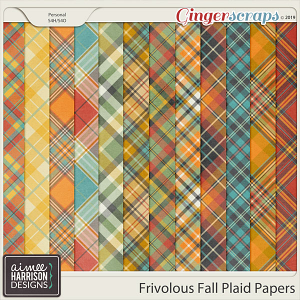 Frivolous Fall Plaid Papers by Aimee Harrison
