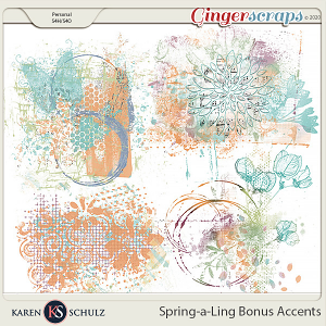 Spring-a-Ling Accents by Snickerdoodle Designs