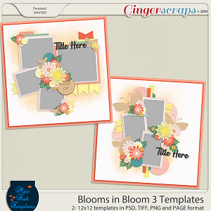 Blooms in Blooms 3 Templates by Miss Fish