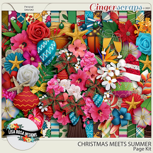 Christmas Meets Summer - Page Kit by Lisa Rosa Designs