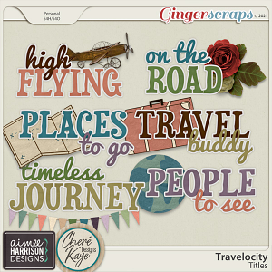Travelocity Titles by Chere Kaye Designs and Aimee Harrison