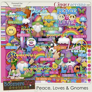 Peace, Love & Gnomes by BoomersGirl Designs