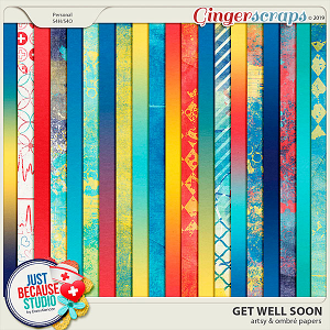 Get Well Soon Artsy and Ombre Papers by JB Studio