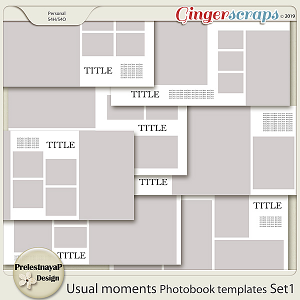 Usual moments Photobook templates Set 1