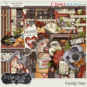 Family Tree Digital Scrapbook Kit