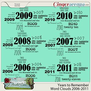 Years to Remember Word Clouds 2006-2011