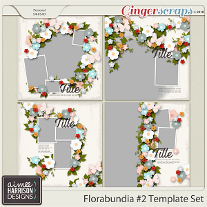 Florabundia #2 Templates by Aimee Harrison