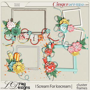I Scream For Icecream: Cluster Frames by LDrag Designs