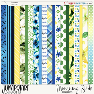 Mourning Birds {Papers} by Jumpstart Designs