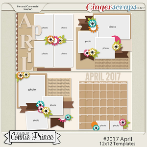 #2017 April - 12x12 Template Pack (CU Ok)