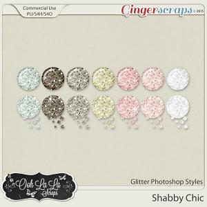 Shabby Chic Glitter Photoshop Styles