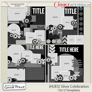 {HUES} Silver Celebration - 12x12 Temps (CU Ok)