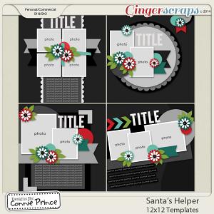 Retiring Soon - Santa's Helper - 12x12 Temps (CU Ok)
