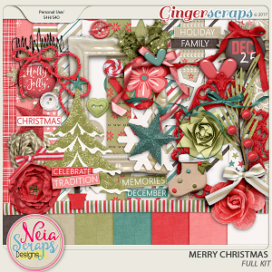 Merry Christmas - Full Kit- by Neia Scraps