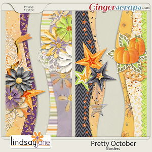 Pretty October Borders by Lindsay Jane