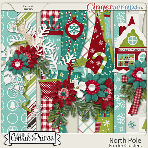North Pole - Border Clusters by Connie Prince