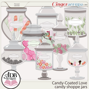Candy-Coated Love Candy Shoppe Jars by ADB Designs