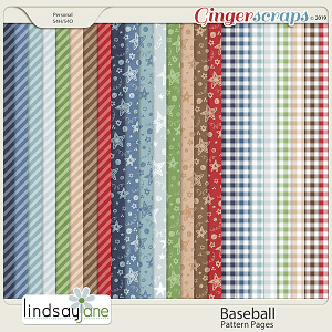 Baseball Pattern Papers by Lindsay Jane