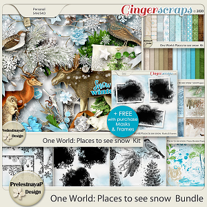 One World: Places to see snow Bundle