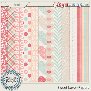 Sweet Love Papers: by CathyK Designs