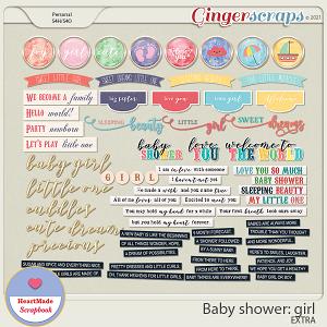 Baby shower: girl - extra