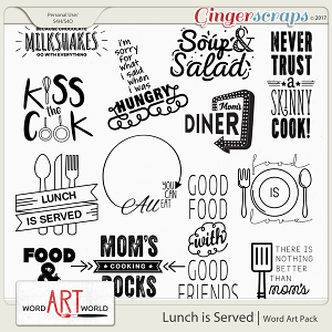 Lunch is Served Word Art