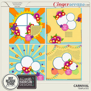 Carnival Templates by JB Studio and Aimee Harrison Designs
