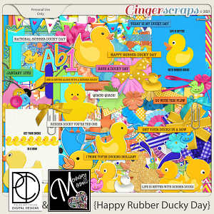 Happy Rubber Ducky Day by Memory Mosaic and Polka Dot Chicks