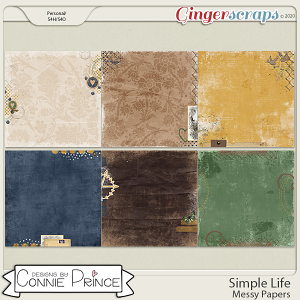 Simple Life - Messy Papers by Connie Prince