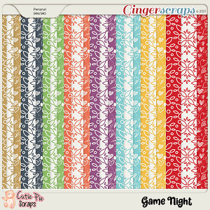 Game Night Pattern Papers