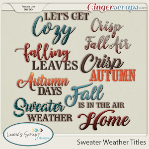 Sweater Weather Titles