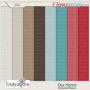 Our Home Embossed Papers by Lindsay Jane