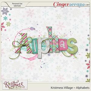 Kristmess Village Alphabets