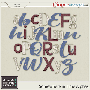 Somewhere in Time Alpha Sets by Aimee Harrison