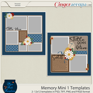 Memory Mini 1 Templates by Miss Fish