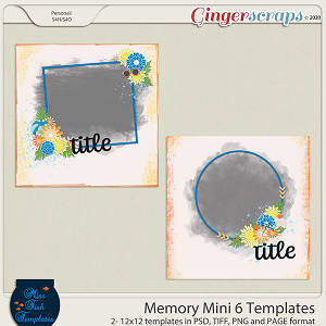 Memory Mini 6 Templates by Miss Fish