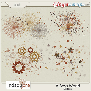 A Boys World Scatterz by Lindsay Jane